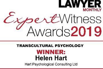Expert Witness award 2019